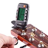 ENO EMT-320 Accordeur numérique/métronome à clipser pour guitare, basse, ukulélé et violon acoustiques
