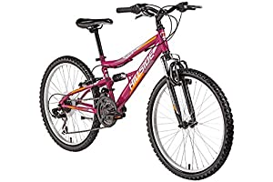 24'' Mountainbike Kinderfahrrad Vegas 2.0 Fahrrad MTB Hillside 21 Gang Shimano Tourney Schaltung Seitenständer, Federung von & hinten Fully by Hillside