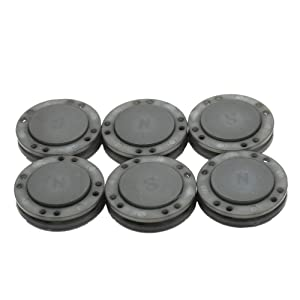 41L Magnetic Coat Buttons 26mm/1 Invisible Hidden Sewing Button Nylon with Magnets Inside for Coat Jacket Suitcase Bag Windbreaker Pajamas 6pcs (Grey) (Color: GREY)