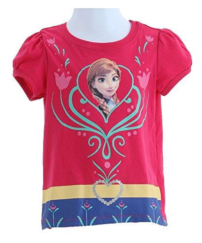 Frozen Little Girls' Anna Tee, Burgundy, 2T