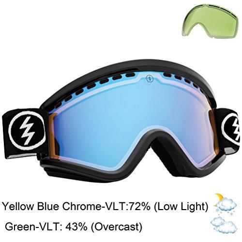 Electric Egv Snow Goggle, Gloss Black, Yellow/Blue Chrome