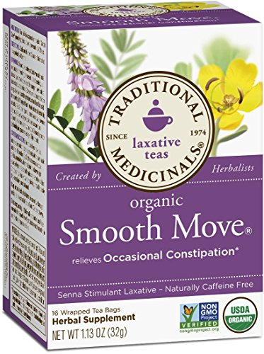 032917000095 - Traditional Medicinals Organic Smooth Move Tea, 16 Tea Bags (Pack of 6) carousel main 0