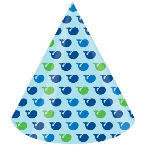 Creative Converting Ocean Preppy Boy Birthday Party Hats, 8-Count - 1