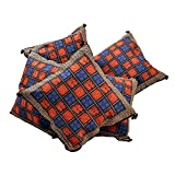 Jaipur RagaHandblock Bagru Print Cotton Cushion Cover Set Colourful Covers