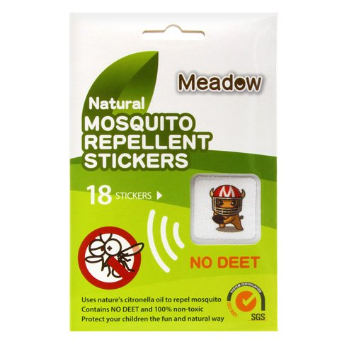 Meadow Natural Mosquito Repellent Stickers (Buffalo) (18 pcs)