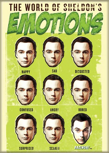 The Big Bang Theory - World of Sheldon's Emotions - Refrigerator Magnet (Big Bang Theory Fridge Magnet compare prices)