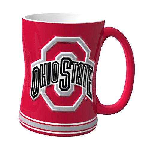 Ncaa Ohio State Buckeyes Sculpted Relief Mug, 14-Ounce