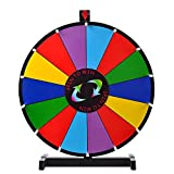 """24"""" Tabletop Spinning Prize Wheel 14 Slots with Color Dry Erase Trade Show Spin Game"""