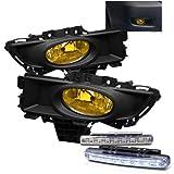 Rxmotoring 2008 Mazda 3 Fog Lights + 8 Led Bumper Lamp