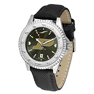 Purdue Boilermakers NCAA Anochrome Competitor Mens Watch (Poly Leather Band) by SunTime