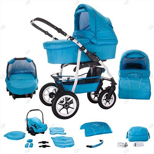 bebebi | modello Bellami | aria pneumatici in bianco | 3in 1passeggino combinato
