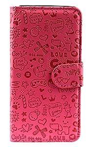Purple Eyes Cute ABC Love wallet flip for LeEco Letv Le 2S (Pink)