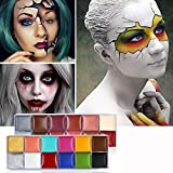 Body Paint 12 Colors Cosmetics Face Body Painting Pigment Oil Art Makeup Cosplay Party Flash Tattoo Body Paint Color 2 pcs . (Tamaño: 5)