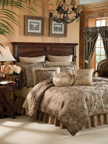 Crocill Home Botticelli 4-Piece Comforter Set, Taupe, King