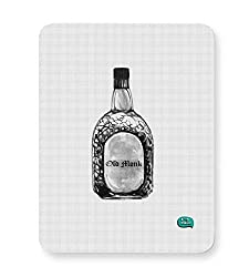 Being Indian Old Monk Sketch Portrait Old Monk, Mohan Beigan , Sketch , Minimalist, Illustration, Being Indian Mouse Pad
