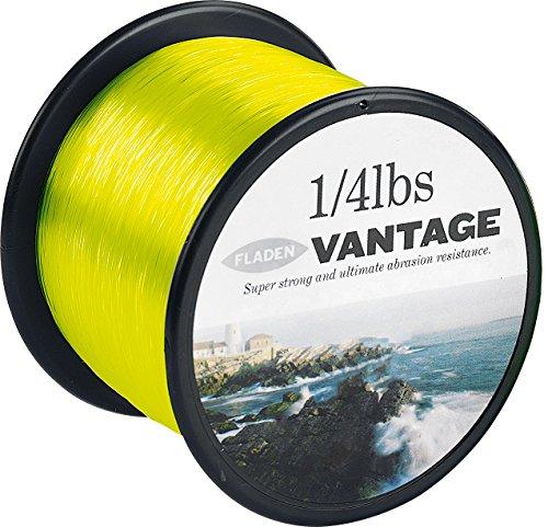 FLADEN-VANTAGE PRO, 1 g (%2f 1814,37 4lb), Extra forte, bobine di filo da pesca monofilo, mare, colore: giallo fosforescente, _Disponibile in 15, 20, 30 g (50 & 22679,60 LBS)