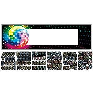 "Amscan Funky 70's Personalize It! Giant Party Sign Banner, 65"" x 20"", Multicolor by TradeMart Inc."