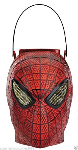 [The Amazing Spider-Man Folding Halloween Candy Pail Marvel Comics NWT 42520] (The Amazing Spider Man 2 2016 Costume)