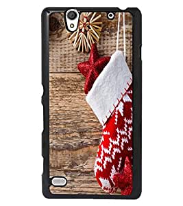 PRINTSWAG RED KID SOX PATTERN Designer Back Cover Case for SONY XPERIA C4