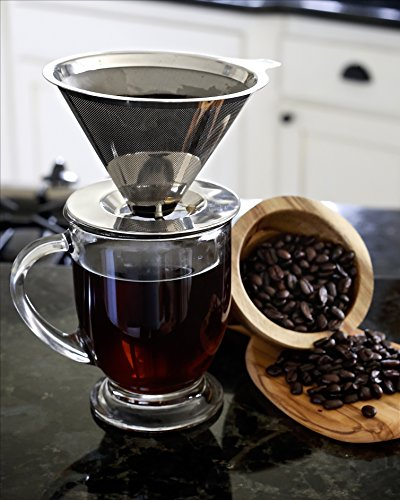 Willow-Everett-Pour-Over-Coffee-Dripper-with-Coffee-Scoop-Reusable-Permanent-Drip-Coffee-Maker