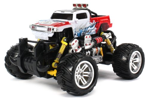Graffiti Hummer H3T Pickup Electric Rc Off-Road Monster Truck 1:18 Scale 4 Wheel Drive Rtr, Working Hinged Spring Suspension, Perform Various Drifts (Colors May Vary)