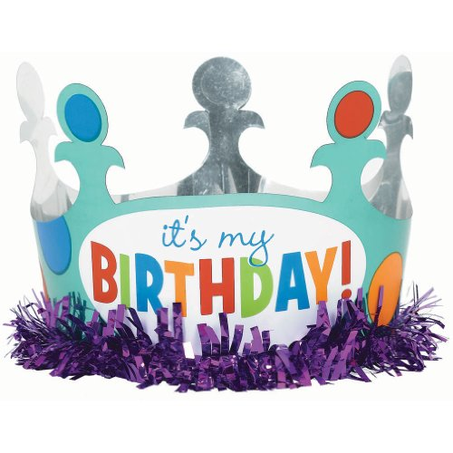 Bday Dots & Stripes Foil Crown - 1
