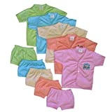 #7: Cool Baby Baby 5 Shirts & Matching Shorts (COOL-004_Multicolour_0 - 6 Months)