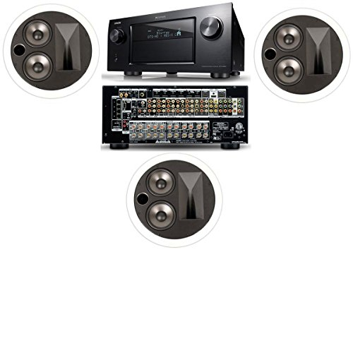 Klipsch Kl-7502-Thx In-Ceiling Lcr(3 Each)-Denon In-Command Avr-4520Ci A/V- White