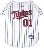 Pets First MLB Minnesota Twins Dog Jersey, Small