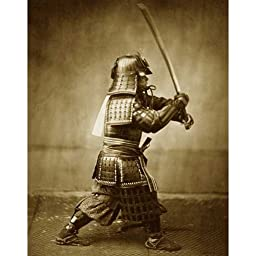 Quality digital print of a vintage photograph -Samurai Warrior with Sword, circa 1860. Sepia Tone 11x14 inches - Luster Finish