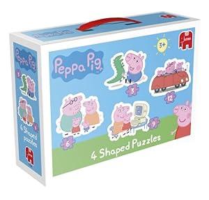 Peppa Pig - Juego de puzzles de Peppa Pig (4 unidades)