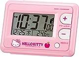 Hello Kitty (ハローキティ) 目覚し時計 R095 ピンク 電波時計 カレンダー表示付 温度表示付 8RZ095RH13