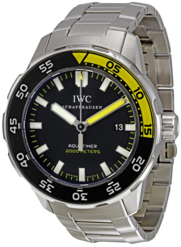 IWC Men's IW356808 Aquatimer Black Dial Watch