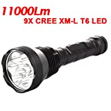 TrustFire Super Bright 9X CREE XM-L T6 LED 11000Lm LED Flashlight Torch