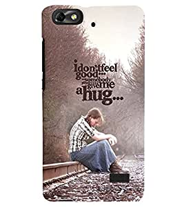 PRINTVISA Quotes Feel Good Case Cover for Huawei Honor 4C