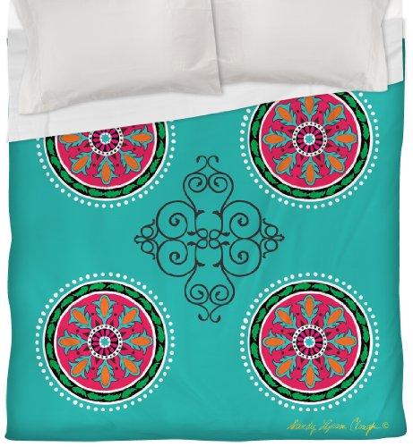 Thumbprintz Duvet Cover, King, Turquoise Boho Medallion Pattern front-480901