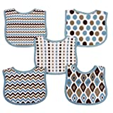 Neat Solutions 5 Pack Graphic Print Interlock Feeder Bib