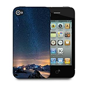 Snoogg Awesome Stars Designer Protective Phone Back Case Cover For Apple Iphone 4