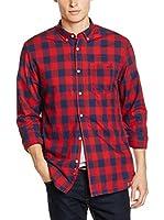 Springfield Camisa Hombre (Rojo / Azul)