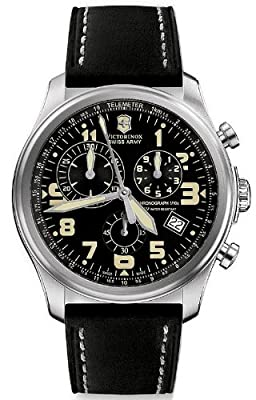 Victorinox Swiss Army Men's 241314 Infantry Vintage Chronograph Black Dial Watch by Victorinox Swiss Army