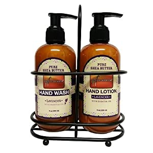 Out of africa hand caddy duo handwash hand Hand wash and lotion caddy