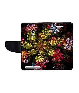 KolorEdge Printed Flip Cover For Asus Zenfone 4 A450CG Multicolor - (45KeMLogo10183Zen4A450CG)