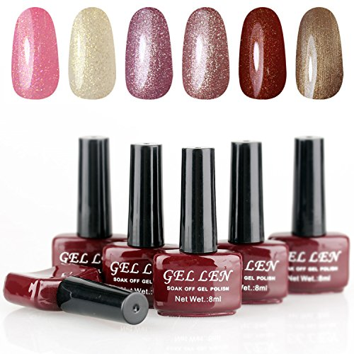 Gellen-6pcs-8ml-Shiny-Soak-Off-Gel-Nail-Polish-UV-Gel-Brown-Bottle-Collection-Mixed-Colors-004