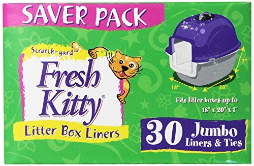 Fresh Kitty Litter Box Liners, Jumbo with Ties by Fresh Kitty (Fresh Kitty Litter Box Liners compare prices)