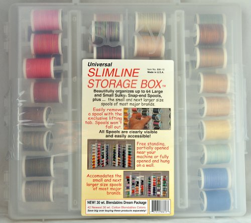 Sulky 42 of the Newest 30 wt. Cotton Blendable All New Colors in Slimline Storage Box 886-13 (Sulky Slimline Storage Box compare prices)