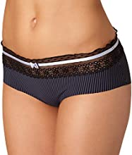 Comprar Passionata Lovely - Pantalón a rayas para mujer, color negro, talla es 38 (de 36)