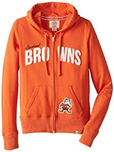 NFL Cleveland Browns Ladies Pep Rally Full Zip Hoodie by