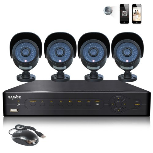 SANNCE 4CH Full 960H Video DVR Recorder-D3704G31+C8370VD | CAMERA SECURITY REVIEWS