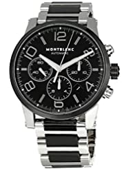 Montblanc Timewalker Steel and Black Ceramic Chronograph Mens Watch 103094