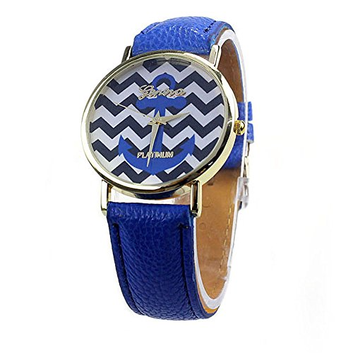 Zps(Tm)Fashion Ladies Women Quartz Boat Infinity Anchor Leather Wrist Watch